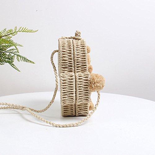 tracolla Borsa decorazione a Borsa tessuto a in Cactus per di A con intrecciato spiaggia piccola A borsa forma tracolla in tessuto a colore 4x4q8pwr