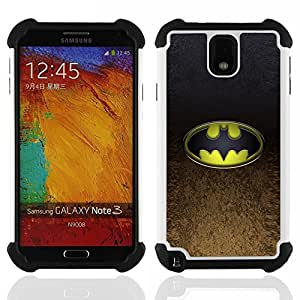 For Samsung Galaxy Note3 N9000 N9008V N9009 - Bat Superhero Dual Layer caso de Shell HUELGA Impacto pata de cabra con im????genes gr????ficas Steam - Funny Shop -