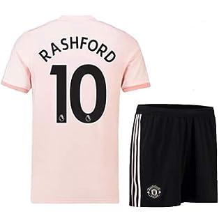7f573bb2718 ZZXYSY Rashford  10 Manchester United Men s Away Soccer Jersey Short Colour  Pink