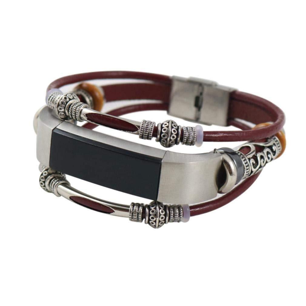 Fashion Clearance! Noopvan for Fitbit Alta & Fitbit Alta HR, Leather Straps Bands Replacement Accessory Bracelet, for Fitbit Alta/Fitbit Alta HR (Coffee) Noopvan Strap