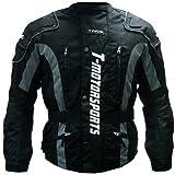 TMS® Enduro Armor Jacket Motorcycle Touring Dual Sport Dirt Bike ATV (Large, Black)