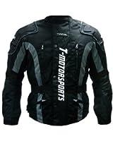 TMS® Mens Enduro Armor Jacket Motorcycle Touring Dual Sport Dirt Bike ATV (Medium, Black)