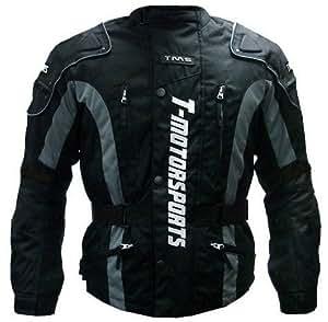 TMS Enduro Armor Jacket Motorcycle Touring Dual Sport Dirt Bike ATV (Large, Black)