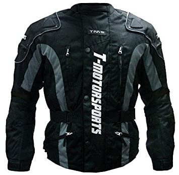 TMS Mens Enduro Armor Jacket Motorcycle Touring Dual Sport Dirt Bike ATV (Medium, Black)