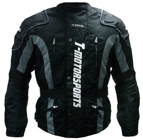 TMS Mens Enduro Armor Jacket Motorcycle Touring Dual Sport Dirt Bike ATV (Medium, Black) ()