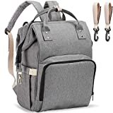 PPW Mommy Diaper Bag Backpack,Tote Shoulder Backpack,Multifunction Organizer Insulated Waterproof,Maternity Baby Changing Bags,Large Capacity,Durable and Stylish (Upgraded Gray)