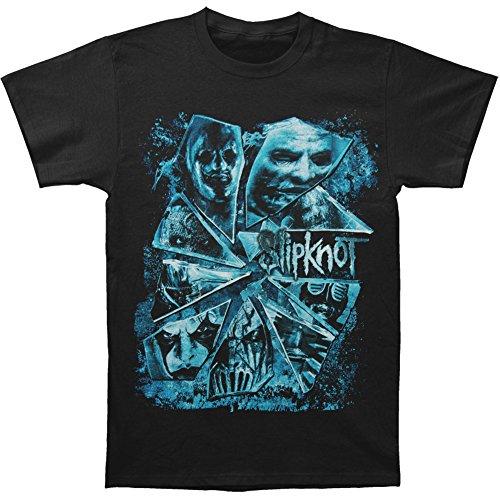 Slipknot Men's Broken Glass T-shirt Large Black (Slipknot Chris)