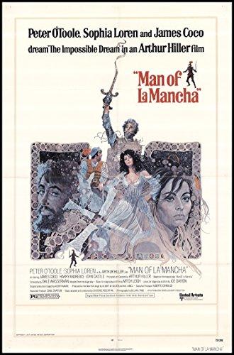 "Man of La Mancha 1972 ORIGINAL MOVIE POSTER Sophia Loren Drama Fantasy Musical - Dimensions: 27"" x 41"""