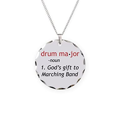 Amazon cafepress definition of drum major charm necklace cafepress definition of drum major charm necklace with round pendant mozeypictures Gallery