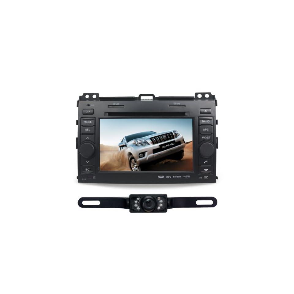 Tyso For TOYOTA Land Cruiser Prado (2003 2009) 7 CAR DVD Player GPS Rear Camera Bluetooth Free Map CD6016GR