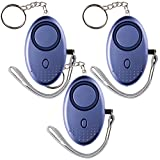 RP S 140db Personal Alarm Keychain Siren Emergency Sos Self Defense Horn (3 Pack Blue)