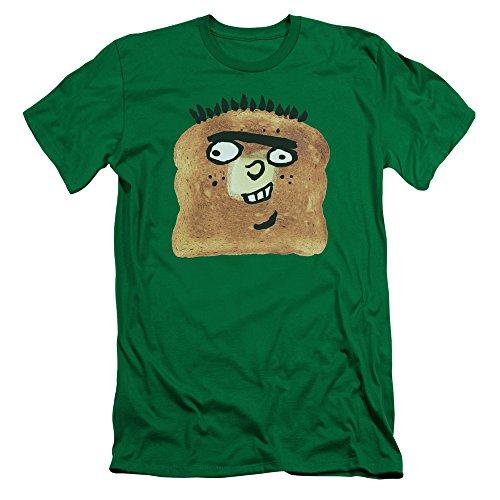 Ed EDD N Eddy Ed Toast Slim Fit Unisex Adult T Shirt for Men and Women, Medium Kelly Green