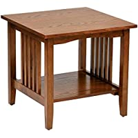 Home- Garden, Sierra Mission End Medium Oak Table with Simple Yet Classic Lines