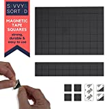 Magnetic Tape for Refrigerator Magnets - 70 Square Adhesive Magnets with Strong 3M