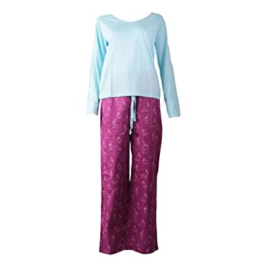d8da67ee92 Ladies Cute Bunny Rabbit Print Pyjama Set Womens Long Sleeve Cotton Rich  Top   Long Lounge