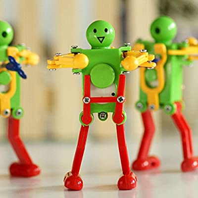 Novelty Clockwork Toy (3 pack) Wind-up Toy Clockwork Spring toy Funny Dancing Robot For Children Kids baby Toy Xmas Gift Christmas Present