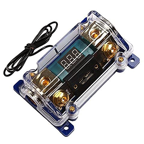 Car Audio Digital Indicator With Super Bright Red LED ANL Fuse Holder 100A (Car Audio Digital Fuse)