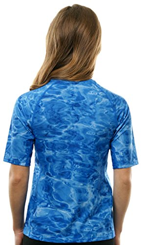 Aqua Design Women UPF 50+ Short Sleeve Comfort Fit Rash Guard Swim Surf Shirt by Aqua Design (Image #1)