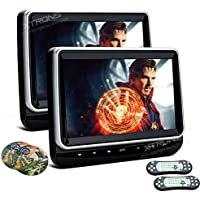 XTRONS 2x 10.1 Inch Pair HD TFT Digital Screen Touch Panel Car Auto Headrest DVD Player 1080P Video HDMI Port