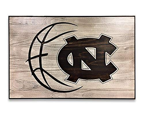 Basketball Decor North Carolina Tarheels Go Heels UNC Art Rustic Vintage Carved 3D Art Engraved Gift Idea Sports Bedroom Sign with Sayings Home Decor Wooden Plaque