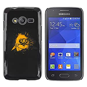 TopCaseStore / la caja del caucho duro de la cubierta de protección de la piel - Cool Funny Face Meme Black Gold - Samsung Galaxy Ace 4 G313 SM-G313F