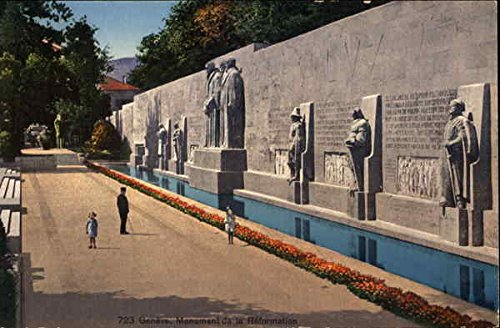 (Geneva. Reformation Monument Geneva, Switzerland Original Vintage)