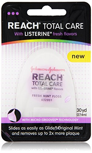Reach Total Care floss with Listerine Fresh Flavors 30-Yard, (Pack of -