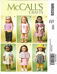 McCall's 6526 18 inch Girl Doll Clothes Pattern Cape Jumper Pajamas American supplier_paulastreasuredfinds
