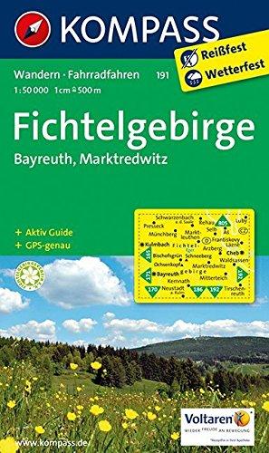 Fichtelgebirge - Bayreuth - Marktredwitz: Wanderkarte mit Aktiv Guide und Radrouten. GPS-genau. 1:50000 (KOMPASS-Wanderkarten, Band 191)