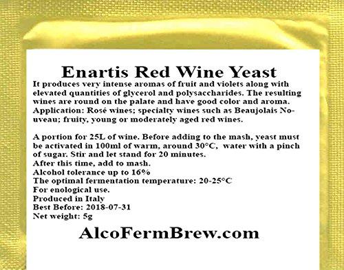 WEINHEFE für 25L ROTWEIN - Reinhefe Rotwein Naturhefe | Hefe für Wein | Obstwein hefe | Methefe | Apfelweinhefe | Weinballon | Hefenährsalz | Alkoholhefe | Gärröhrchen | Hefe für vergärung | Fruchtweinen | Weißwein
