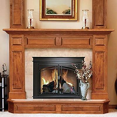 Pleasant Hearth FN-5700 Fenwick Fireplace Glass Door, Oil Rubbed Bronze,