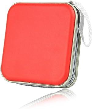Homiki Caso Organizador para CD Estuche Cartera Portátil para Coche Oficna Viaje CD DVD Bolsa de Almacenamiento de 40 Discos 4 Colores: Amazon.es: Electrónica