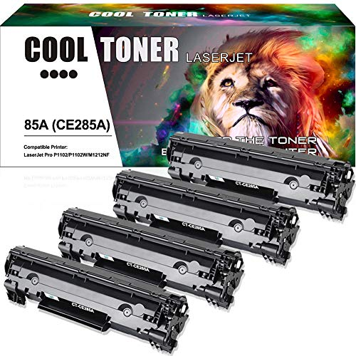 Cool Toner Compatible Toner Cartridge Replacement for HP 85A CE285A P1102w for HP LaserJet P1102w M1212nf HP LaserJet Pro P1100 P1102 P1102w M1212nf M1217nfw M1132 Ink Toner Printer (4 Packs-Black)