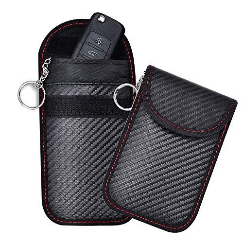 2 Auto Key Signal Blocker Zakken,Premium Faraday Cage Car Key Protector,RFID blokkeren Faraday Case Protector voor…