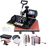 """Yescom 6-in-1 12""""x15"""" Digital Heat Sublimation Transfer Press Machine 700W with Gloves Heat Press T-Shirt Cup"""