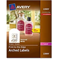 Avery Avery Promotional Label - 3 Width X 2.25 Length - 1 / Pack - Arch - 9/sheet - Laser - White