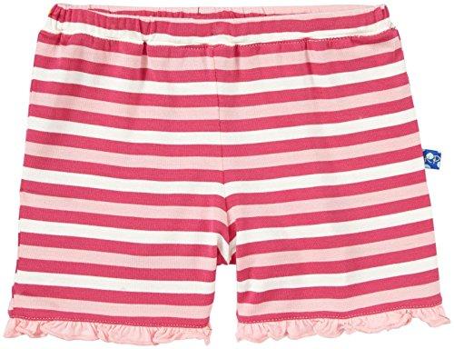 KicKee Pants Little Girls' Ruffle Shorts (Toddler/Kid) - Bubblegum Stripe - 3T