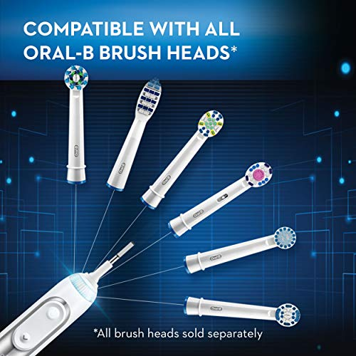 51vNrr5OTLL - Oral-B 8000 Electronic Power Rechargeable Battery Electric Toothbrush with Bluetooth Connectivity, White