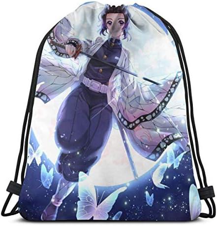 Nezuko Respect The Drip Karen Drawstring Backpack Sport Gym Bags Storage Goodie Cinch Bag