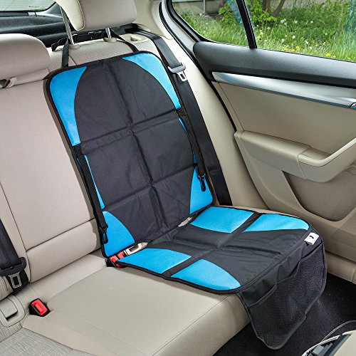Big Save! UNIVERSAL Car Seat Protector with Practical Hooks for Toys, Durable Protection for Car Sea...