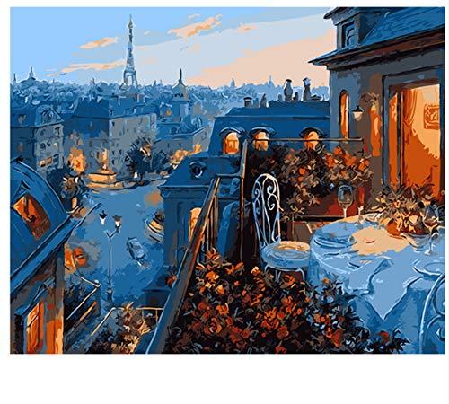 XIGZI DIY Malen Nach Zahlen Ölgemälde Wandbilder Home Decor Dekoration 40X50 cm,Mit Holzrahmen,C B07NWYQQ1G | Lebensecht