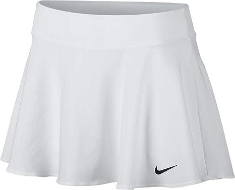 Nike W NKCT FLX Pure Skirt Flouncy Falda de Tenis, Mujer, Blanco ...