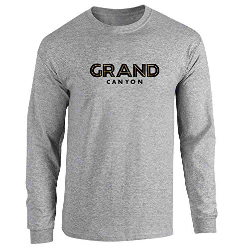 - Grand Canyon Retro Vintage Travel Sport Grey XL Long Sleeve T-Shirt