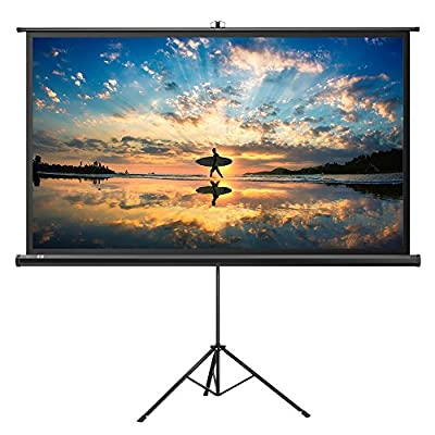 Projector Screen Stand, TaoTronics Indoor Outdoor Projection Screen 4K HD 100 Inch 16:9 Premium Wrinkle-Free Design (Easy to Clean, 1.1 Gain, 160° Viewing Angle & Includes a Carry Bag)
