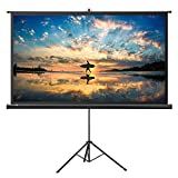 Projector Screen with Stand, TaoTronics Indoor Movie Screen 100 inch Diagonal 16:9 with Premium Wrinkle-Free Design (Easy to Clean, 1.1 Gain, 160° Viewing Angle and Includes a Carry Bag)
