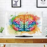 Best As Seen On TV Headphones For Tvs - iPrint LCD TV dust Cover Strong Durability,Watercolor,Vibrant Colorful Review