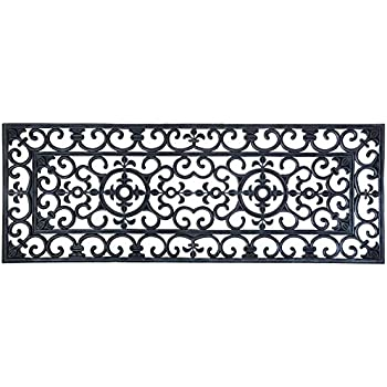 Amazon Com Kempf Rubber Scroll Doormat Rectangular