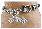 Crystal Motorcycle Charm & Bracelet