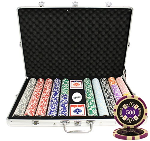MRC 1000pcs Ace Casino Laser Poker Chips Set with Aluminum Case Custom Build by Mrc Poker