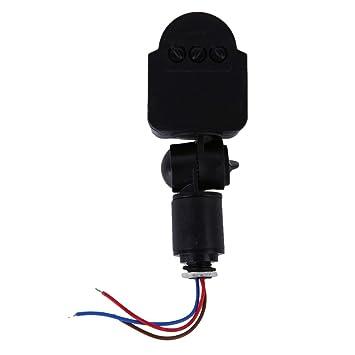 Negro y Gris automático 12 M PIR12V / PIR85-265V Seguridad PIR Detector de Sensor